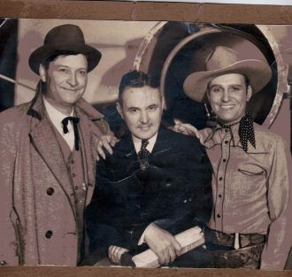 Max Terhune, Harry Van Noy, Gene Autry, 1930