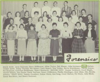 Neal Orvie Shaben--U.S., School Yearbooks, 1900-1999(1957)forensics