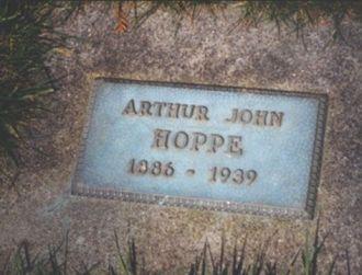 Arthur John Hoppe Headstone, Washington