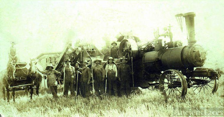 William Buchanan and steam tractor