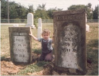 Tombstones of Abraham and Elizabeth Mayfield