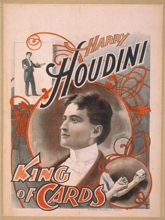Harry Houdini, king of cards