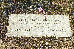Grave Marker - Pvt. William H. Fryling