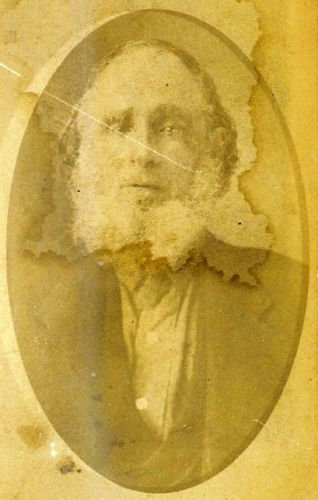 """I believe this to be a picture of my 3rd Great Grandfather, Cornelius Callahan (1779-1855).  On the back of this photo it is indicated that the photo was taken by """"Gray Photography"""" in Cardington, Morrow Co., Ohio"""