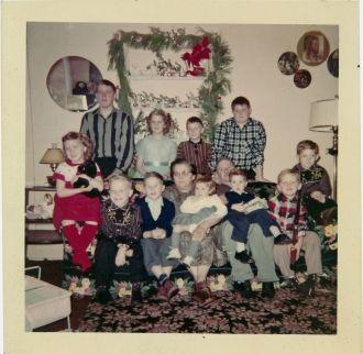 Byron & Christine (Eichler) Musselman family, Ohio 1955