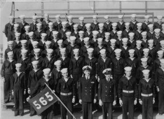 Navy class in 1947 at Miramar Naval Base