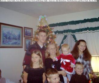 Terry Bradley with grandchildren in 2009
