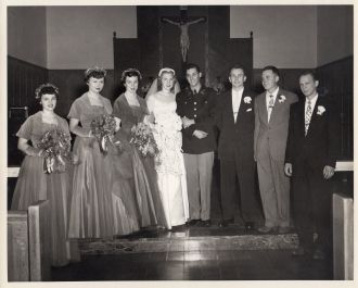 Betty (Beran) Miller  Wedding NE 1952
