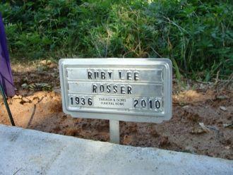 Ruby Lee Rosser gravesite