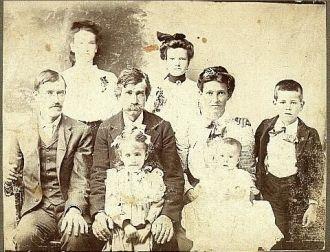 Georgia (Dickerson) Capps & family