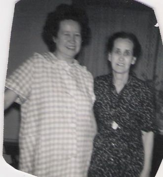 Hazel and Her Mother Lettie Bell Miller,Baker