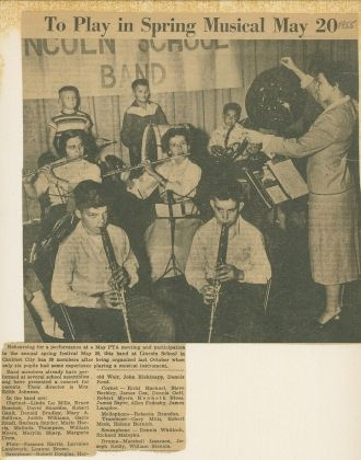 1st Band at Lincoln School 1955