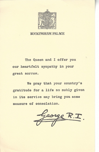 Joffre J. Barlow Memorial Letter