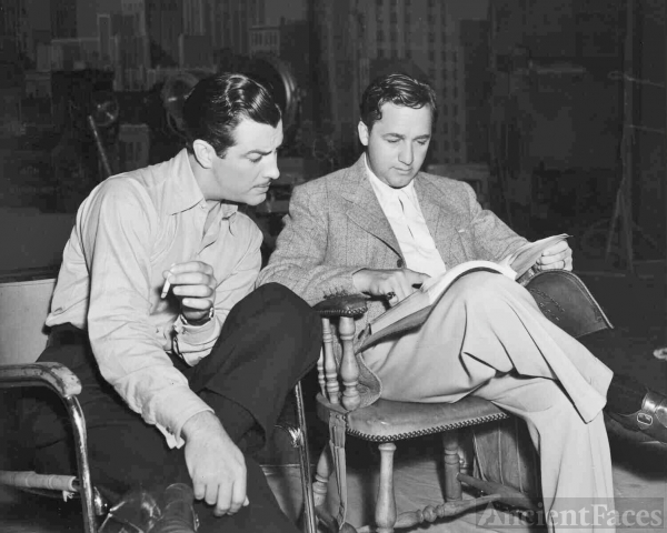 Mervyn LeRoy and Robert Taylor