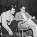 Mervyn LeRoy and Robert Taylor