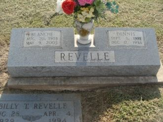 Dennis & Blanche Revelle's Tombstone