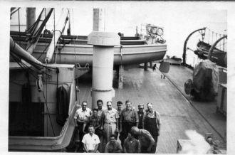 Boston Navy Yard work crew on ship Mt. Vernon