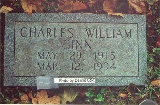Charles Ginn Gravestone - Old Gray Cem.