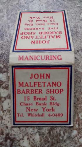John Malfetano, barber