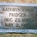 Gravestone of Kathryn Anne Lanier Pridgen