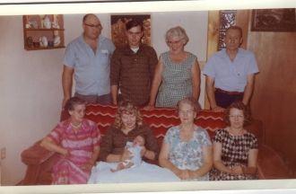 Bomstead & Morris families, Washington 1962