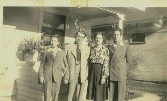 Theodore F. & Sandalia Heidke Family, 1945
