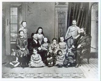Daniel & Agnes Buchanan family ca. 1872