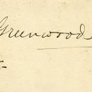 """Greenwood Hardy"" inscription"