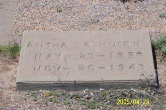 Antha E. Huish of Headstone