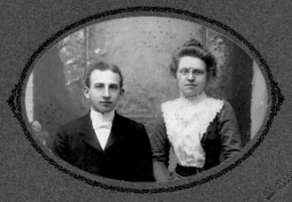 Clyde Templeton and Anna Maria Mayo, about 1900