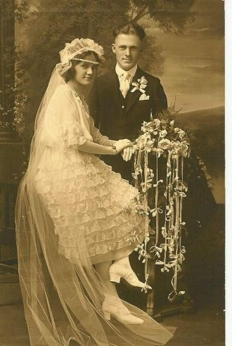 Erma G. (Horvath)and John Edwin Carr's Wedding Day