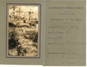William Valentine Steele gravesite