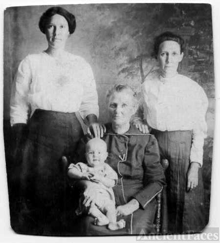 Baby Jackie L. Harrel & Three Women
