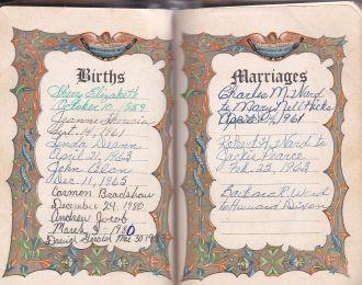 Mary Jean Ward Sylvestre Family Bible