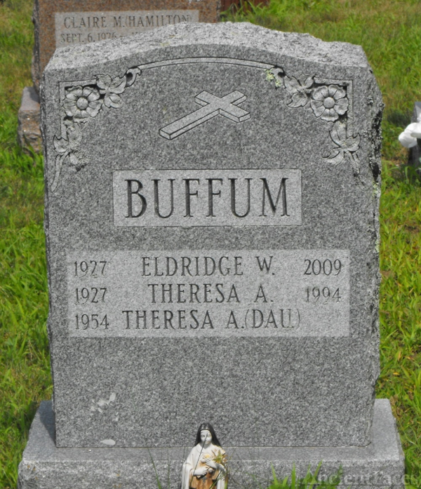 Theresa A & Eldridge W. Buffum gravesite
