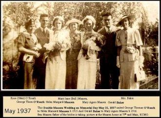 George O'Roark, Gerald Baker, & Helen & Mary Maasen