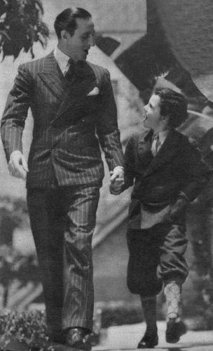 Basil Rathbone and Freddie Bartholemew.