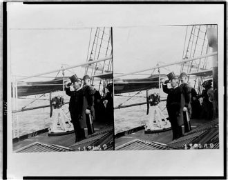 [Theodore Roosevelt, full-length portrait, facing left,...
