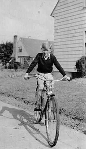 Pat O'Toole on a bike