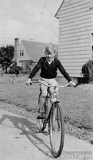 Pat O'Toole on a bike