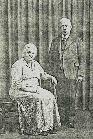 Charles & Anna (Schmidt) Blankschaen, 1945