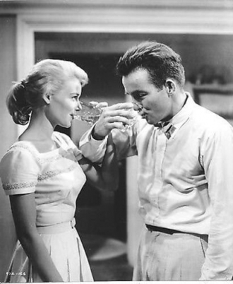Hope Lange and Montgomery Clift in THE YOUNG LIONS