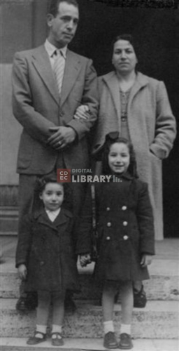 Albertina & Grazia with their parents
