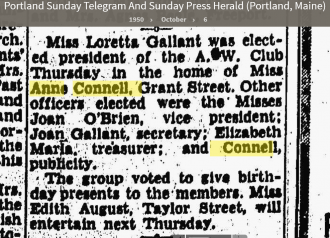 Anne Louise Connell-Coughlan--Portland Sunday Telegram And Sunday Press Herald (Portland, Maine)(6 oct 1950)