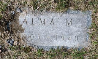 Alma Erskine McLellan-Murphy-Connell --gravestone