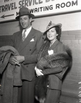 Veronica Balfe Cooper and Gary Cooper