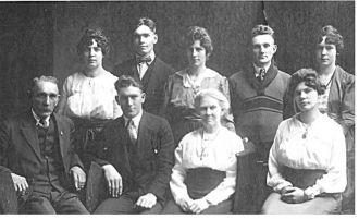 Johann & Ellen (Baldwin) Hoffmann Family 1910 WI