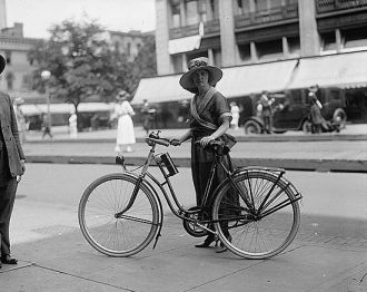 Times girl on bicycle