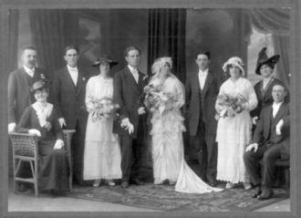Charles & Ethel (McConnell) Davis wedding