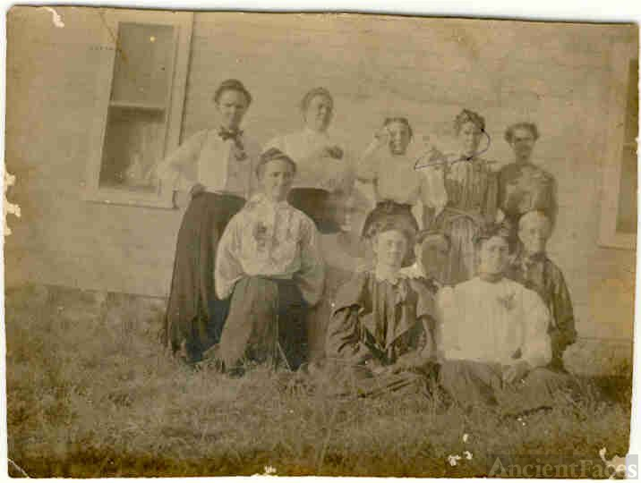 Mattie Susan Cassady-Thayer and Family